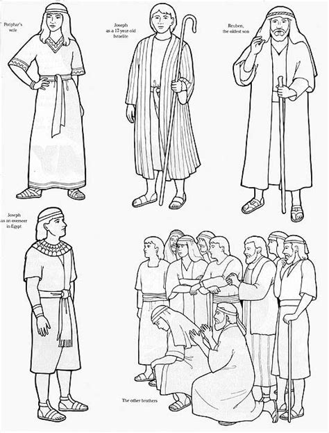 coloring pages of joseph in the bible joseph worksheets black white flannel board images