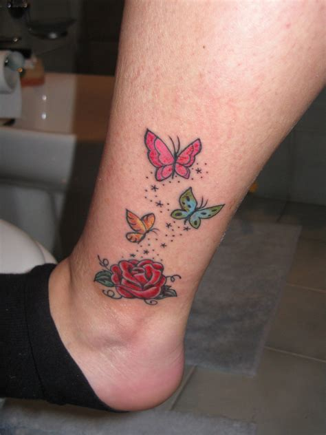 rose tattoos on the leg butterflies on leg tattooshunt