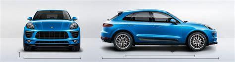 Porsche Macan Abmessungen by Porsche Macan Sizes And Dimensions Guide Carwow