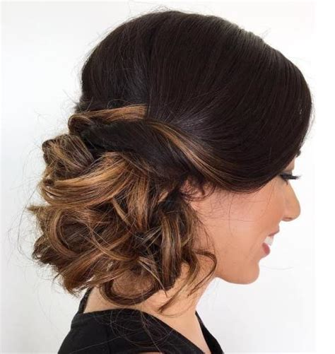 how to curl loose curls on a side ethnic hair side updos that are in trend 40 best bun hairstyles for 2018