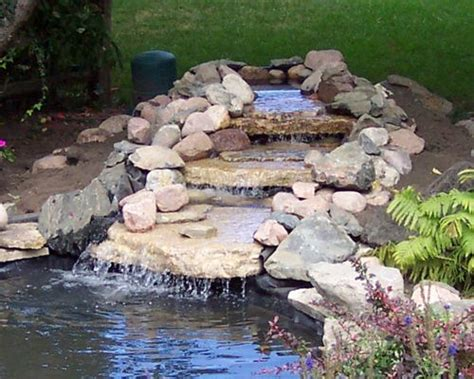 How To Make A Backyard Waterfall by How To Build A Backyard Waterfall Large And Beautiful