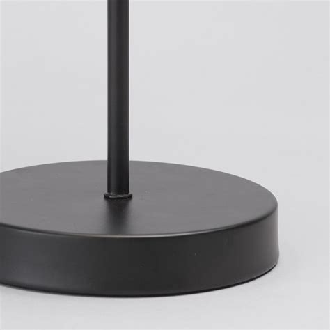 black table l base 1 light round base table l with back white striped