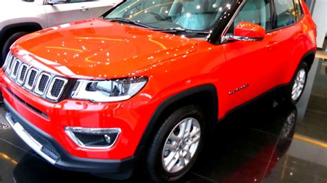 red jeep compass jeep compass exotica red colour walkaround youtube