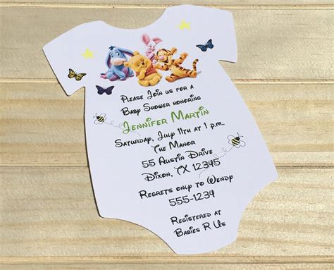 Classic Pooh Invitations Baby Shower by Winnie The Pooh Baby Shower Invitation Rsvp Custom Creations