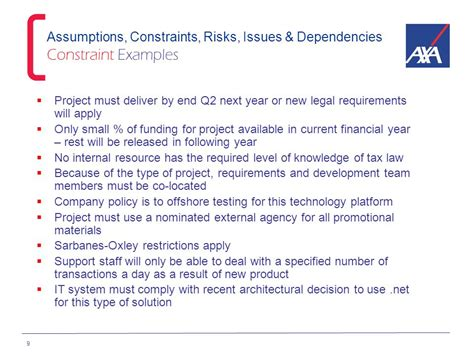 Project Management Masterclass Ppt Download Risks And Assumptions Template