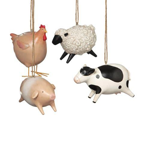 animal ornaments animal ornament set of 4
