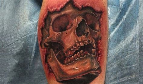 3d skull tattoo designs 47 best 3d skull tattoos collection