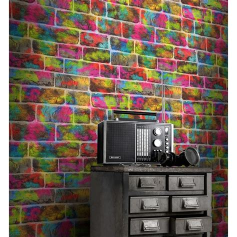 graffiti wallpaper b and m rasch graffiti brick wallpaper decorating b m stores