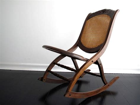 Antique Folding Rocking Chair by Vintage Wood Rocking Chair Vintage Rocking By Snapshotvintage