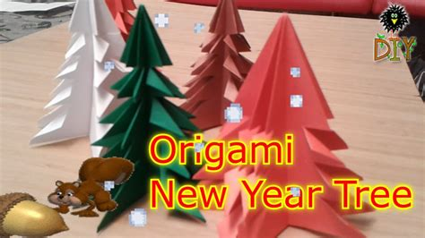 easy origami for new year origami new year tree easy origami tree