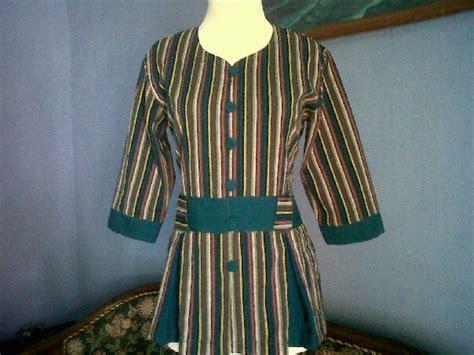 desain baju batik lurik 20 model baju batik lurik wanita kantoran modern terbaru