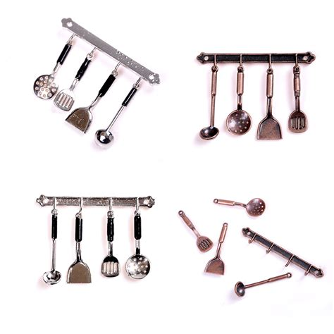 1 Set Clasic 5pc set classic 1 12 doll house miniature metal