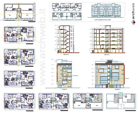pianta appartamento dwg palazzina residenziale dwg