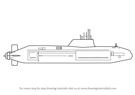 how to draw a military boat submarine drawings gallery