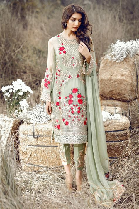 latest outfits latest party wear embroidered shirts 2018 2019 designs