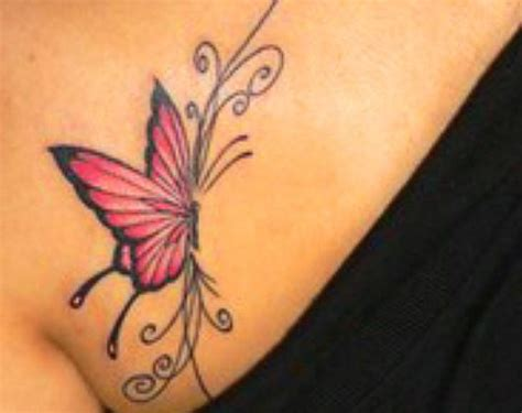 butterfly chest tattoos bali design