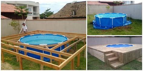 how to build a backyard pool diy outdoor floating swimming pool and deck usefuldiy com