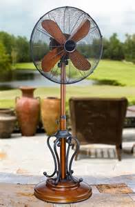 byzantium 18 inch oscillating standing outdoor patio fan