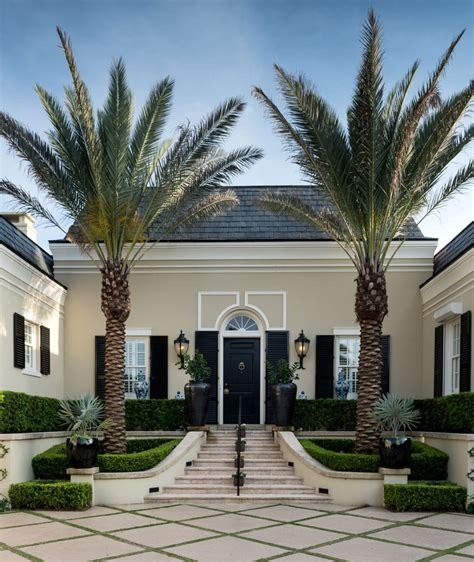 Mediterranean Home Interior by Elegant Regency Style Palm Beach Villa Combines Classic
