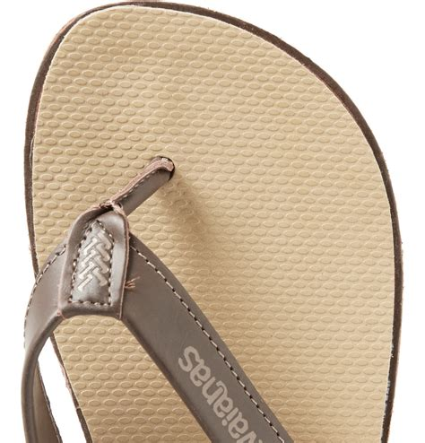 Havaianas Leather 3 havaianas premium leather and rubber flip flops in