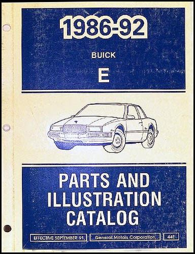 books on how cars work 1992 buick riviera navigation system 1986 1992 buick riviera reatta parts book original