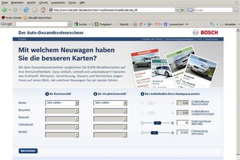 Pkw Versicherung Im Vergleich by Kostenrechner Diesel Pkw Mit Benzinern Im Internet