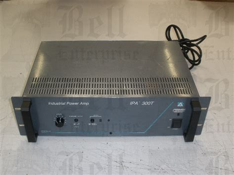 Power Lifier Bell bell enterprise ipa 300t peavey 300 watt single channel power lifier