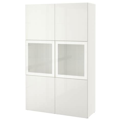 ikea besta white best 197 storage combination w glass doors white selsviken high gloss white frosted