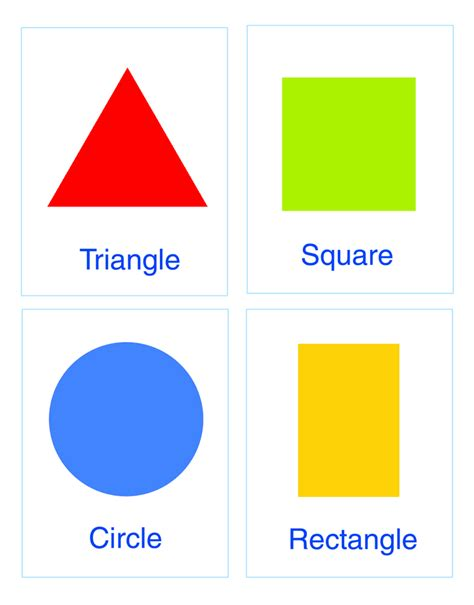 color shapes cards for cards colors and shapes for children of