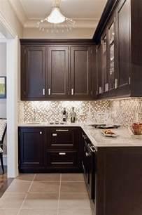 Dark Brown Kitchen Cabinets by Dark Brown Cabinets Gray Countertops Kitchens Pinterest