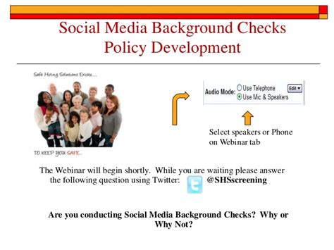 Background Check Social Media Social Media Background Checks Policy Development