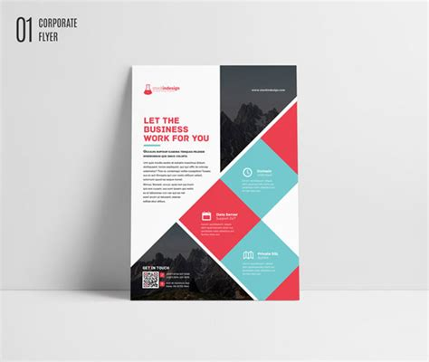 Free Indesign Template Corporate Flyer Brochure Designfreebies Adobe Indesign Poster Template