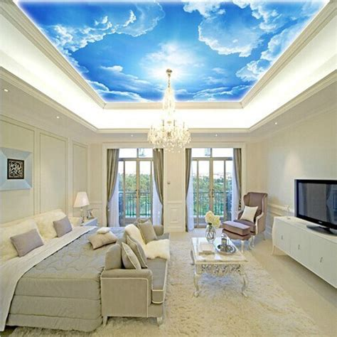 sky wallpaper for bedroom aliexpress com buy 3d photo star nebula night sky large suspended ceiling painted