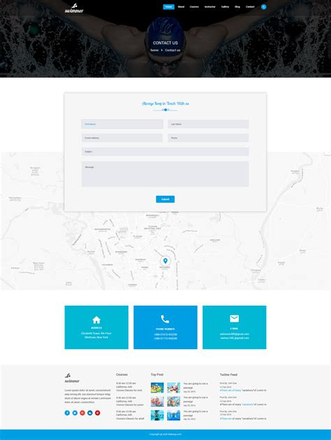 Sparrk Event Bootstrap Template swimmer swimming school psd template one dollar psd