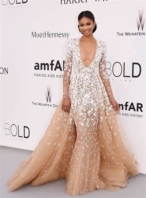 chanel iman star sign the best celebrity looks from the cannes amfar gala tan