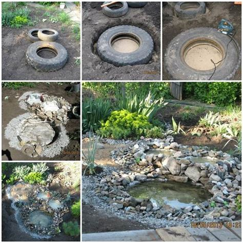 wonderful diy garden ponds from tires