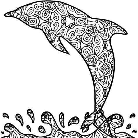 coloring pages for adults dolphins dolphin adult coloring page printable pdf by thinkprintableart