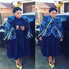 Traditional wedding dresses sotho 2017 styles 7 shweshwe