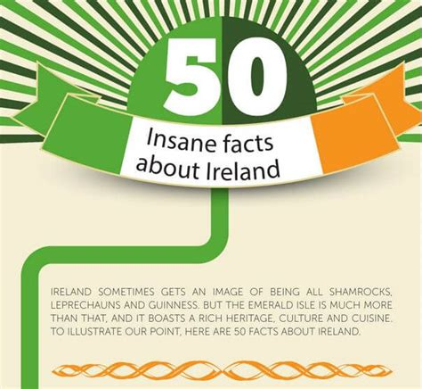 find it ireland irish information reviews of the best 50 insane facts about ireland infographic tenon tours