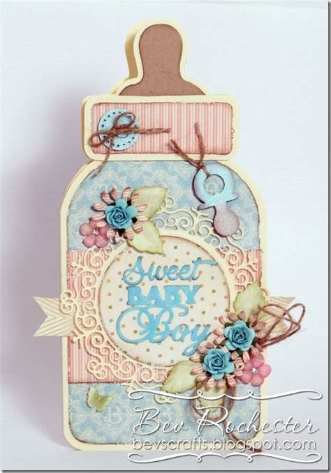 Baby Bottle Template Card by Bev Rochester Noor Baby Bottle Template Cards Baby
