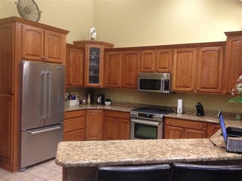 help kitchen paint colors with oak cabinets home oak kitchen cabinets help what to do stain or paint