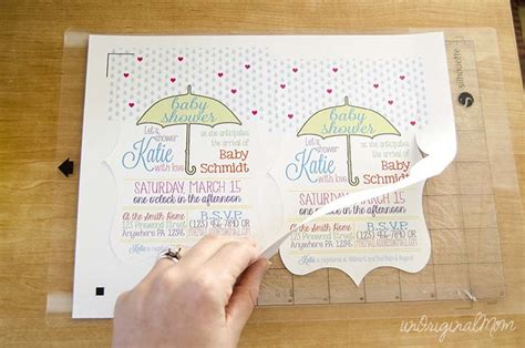 how to make wedding invitations with silhouette cameo baby shower invitations with your silhouette unoriginal