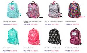 Backpacks start as low as 13 99 and they have a pretty good selection