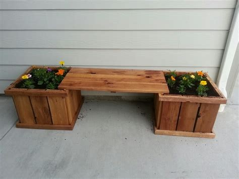 flower pot bench plans my new bench with flower pots cool ideas pinterest