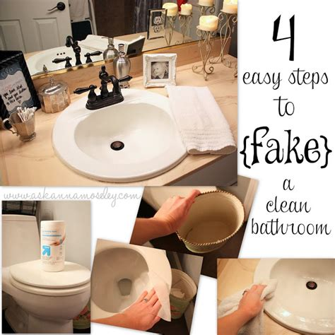 steps in cleaning the bathroom how to fake a clean bathroom by my guest anna organizing