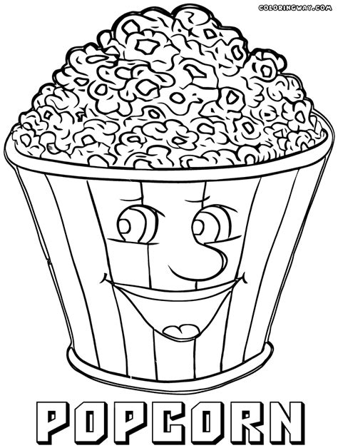 how to color popcorn popcorn coloring pages coloring pages to and print
