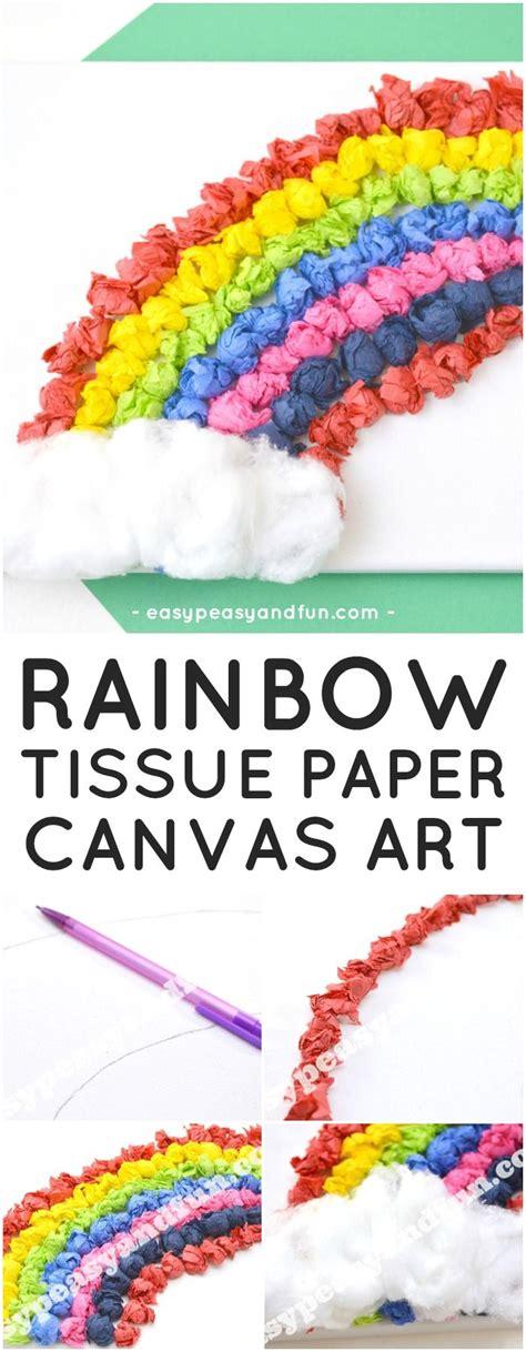Tissue Paper Rainbow Craft - best 25 canvas ideas ideas on easy