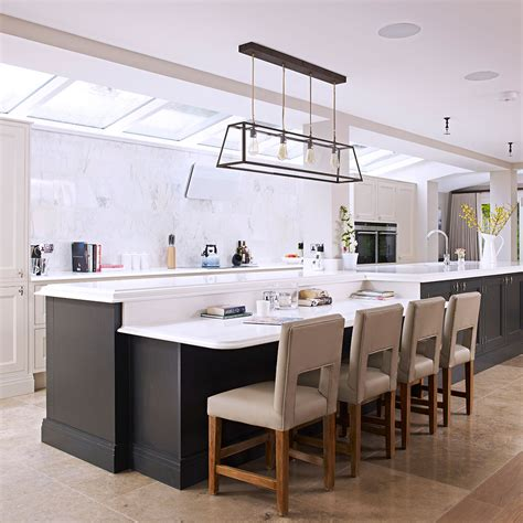 kitchen island ideas with seating lighting within wide