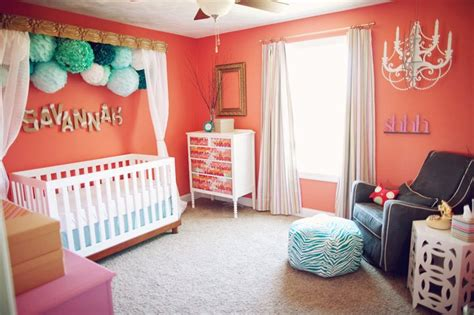 Coral Room Decor by Modern Vintage Coral Nursery Project Nursery