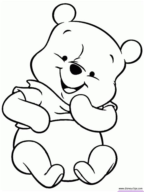 Coloring Pages Winnie The Pooh by Winnie The Pooh Baby Coloring Pages Az Coloring Pages